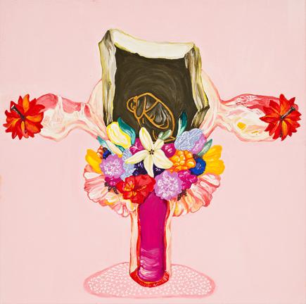 황지현 Mohnblumen-양귀비꽃  Gouache,Acrylic on Canvas 30x30cm 2013