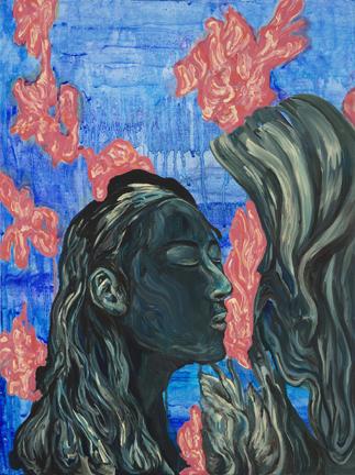 Encounter Gouache Acrylic on Canvas 2017