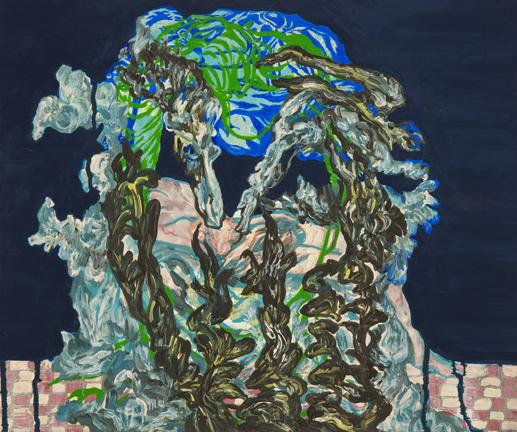 ill flower-2, 41x32cm Gouache, Acrylic on Canvas 2017