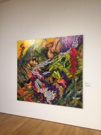 시간을 엮다 Time weaving 195.3x181.8cm Gouache, Acrylic on Canvas 2018